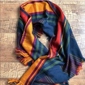 colorful merona scarf w/ fringe